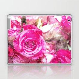 Bunch of Pink roses (watercolour) Laptop & iPad Skin