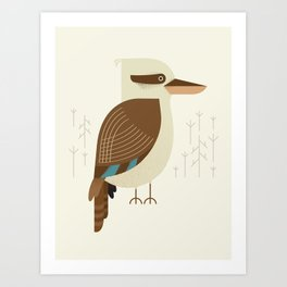 Laughing Kookaburra, Bird of Australia Art Print