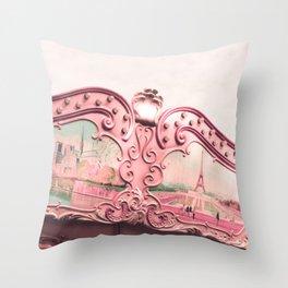 Paris Nursery, Violet, Carousel Throw Pillow