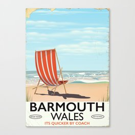 Barmouth, North Wales seaside travel poster. Canvas Print