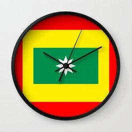 cartagena region flag Colombia country Wall Clock