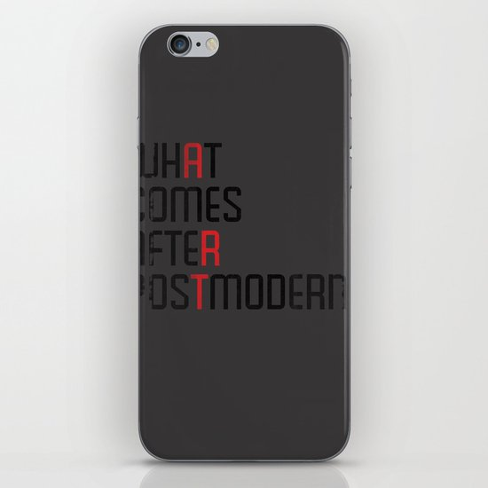 What Comes After Postmodern? iPhone & iPod Skin