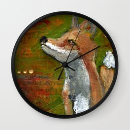 Wisdom of the Fox Wall Clock