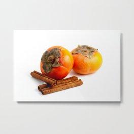 Persimmon Cinnamon Metal Print