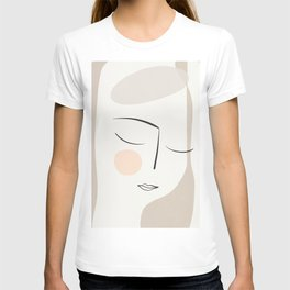 Dreaming Girl Portrait #minimalart T-shirt