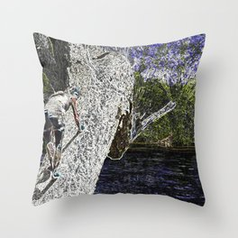 Climbing to Nirvana Throw Pillow