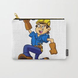 Running man with a wrench Carry-All Pouch