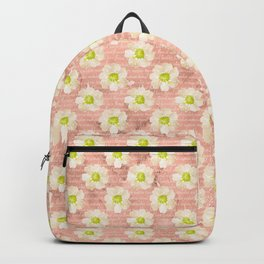 Yellow Daisies on Coral Backpack