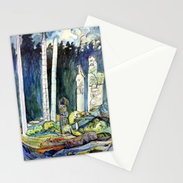 Emily Carr - Totems, Tanoo - Canada, Canadian Oil Painting - Group of Seven Stationery Cards