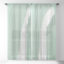cat's place Sheer Curtain