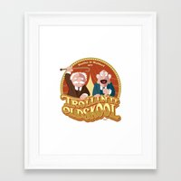 blair waldorf Framed Art Prints featuring Statler & Waldorf by Szoki