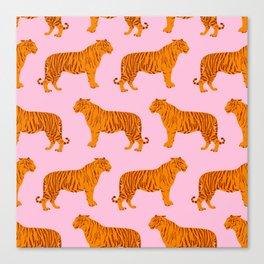 Tigers Neck Gator Pink Canvas Print