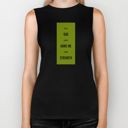 ARMS ME WITH STRENGTH Biker Tank