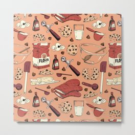 Pattern: Baking Cookies Metal Print