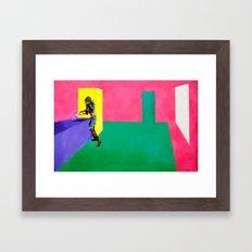 Washing Dishes Framed Art Print