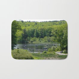 Boats on the Lake, Wellesley College Bath Mat