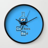 cooking Wall Clocks featuring Cooking Bad by Loku