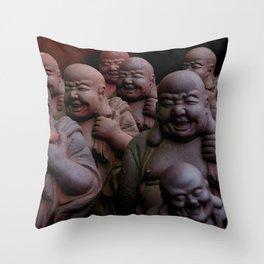 Laughing Buddhas Throw Pillow