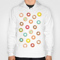 donuts Hoodies featuring DONUTS by Wen Li T