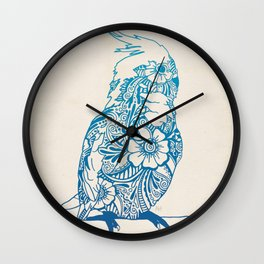 Henna Cockatiel Wall Clock