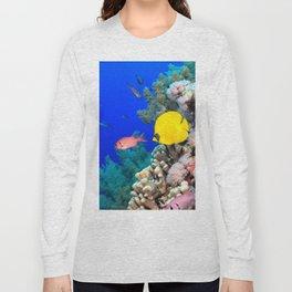 Impressive Cute Colorful Tropic Fish Coral Reef HD Long Sleeve T-shirt