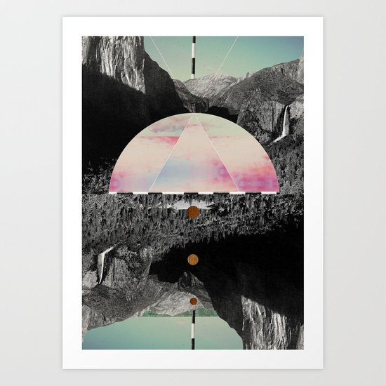 Candy Floss Skies Art Print