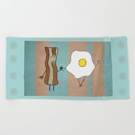 Bacon & Egg Togetherness Beach Towel