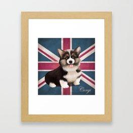 Royal Corgi Baby Framed Art Print