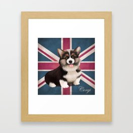 Royal Corgi Baby Framed Art Print
