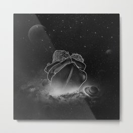 beautifully unfinished b&w. Metal Print