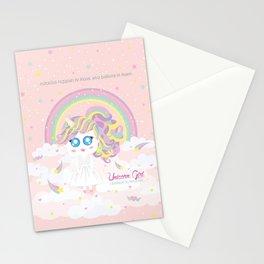 Unicorn Girl Stationery Cards