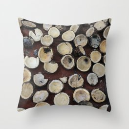 crazy coconuts Throw Pillow