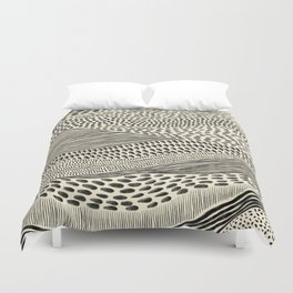 Hand Drawn Patterned Abstract II Duvet Cover