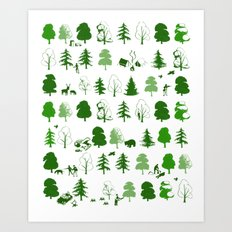 If you go down to the woods today Art Print