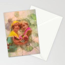 Vintage childhood of the last century Stationery Cards