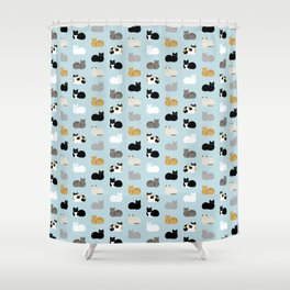 Cat Loaf Print Shower Curtain