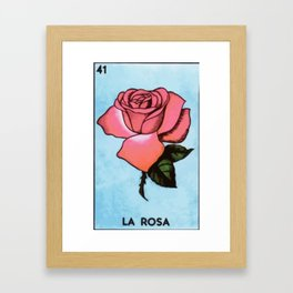 la rosa Framed Art Print
