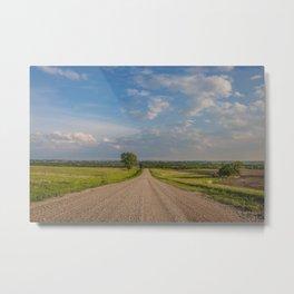 Country Road, North Dakota 5 Metal Print