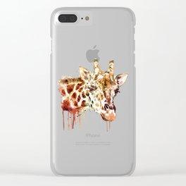 Giraffe Head Clear iPhone Case
