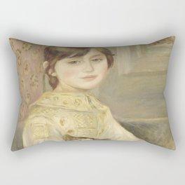 """Auguste Renoir """"Julie Manet"""" Rectangular Pillow"""