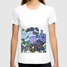 Vintage & Shabby Chic - Blue Flower Summer Meadow T-shirt