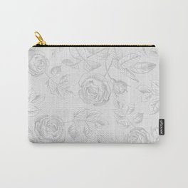 FLORAL ILLUSTRATION GREY Carry-All Pouch