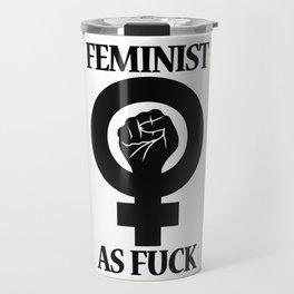 Feminist As Fuck Symbol Travel Mug