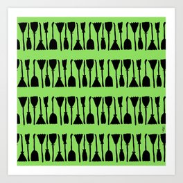 Witches Brooms (green) Art Print