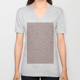 Lilac pink rustic geometrical abstract diamond pattern Unisex V-Neck