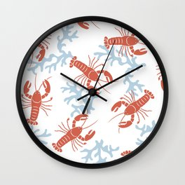 Lobster Toss Wall Clock
