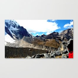 Highest point of the Salkantay Trek Canvas Print