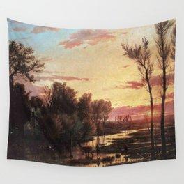 Un tramonto dopo la pioggia: A sunset after rain 1864 Wall Tapestry