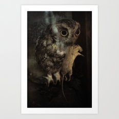 The Owl and the Mouse Art Print