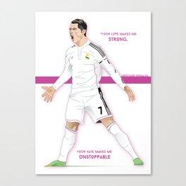 Cristiano Ronaldo Illustration Canvas Print